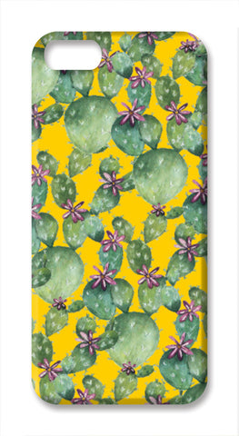 Trendy Green Cactus Watercolor Pattern  iPhone SE Cases | Artist : Seema Hooda