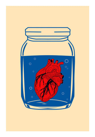 Wall Art, The Heart in the Glass Jar Wall Art | Artist : Sourab Biswas, - PosterGully