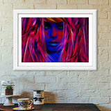 Miss psychedelic! Premium Italian Wooden Frames | Artist : Jessica Maria