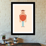 Tall Man Cartoon Premium Italian Wooden Frames | Artist : Mani Selvam