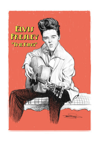 Wall Art, Elvis The King Wall Art | Artist : Sri Priyatham, - PosterGully