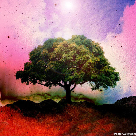 Square Art Prints, Tree nature Artwork | Artist: Shrey Kathuria, - PosterGully