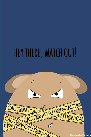 Wall Art, Caution Artwork | Artist: Simran Anand, - PosterGully - 1