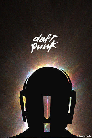 Wall Art, Daft Punk Flame Artwork | Artist: Devraj Baruah, - PosterGully - 1