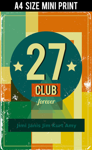 Mini Prints, 27 Club Forever Rock | Mini Print, - PosterGully