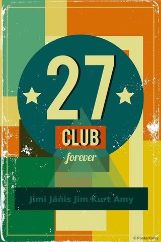 Wall Art, 27 Club Forever Rock, - PosterGully