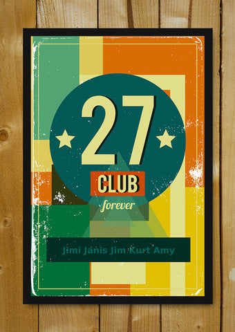 Glass Framed Posters, 27 Club Forever Rock Glass Framed Poster, - PosterGully - 1