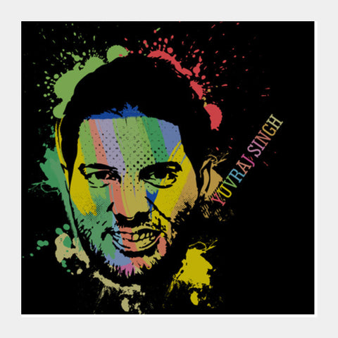 Yuvraj Singh Square Art Prints PosterGully Specials