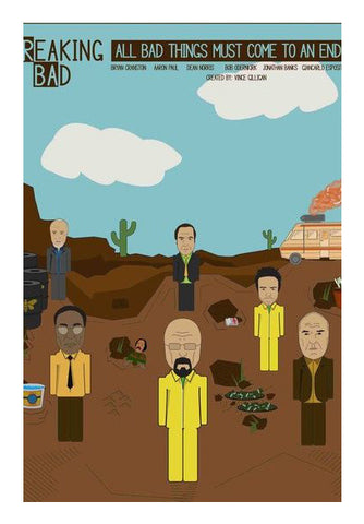 Breaking Bad Poster - Hiesenberg Jesse And Friends Art PosterGully Specials