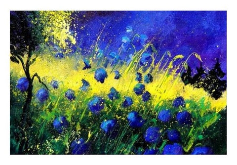 PosterGully Specials, blue and yellow Wall Art | Artist : pol ledent, - PosterGully