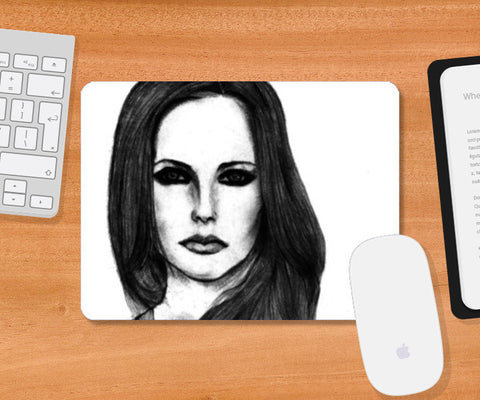 Mousepad, Avril Lavigne Sketch Mousepad | Artist : Richard Howardson, - PosterGully