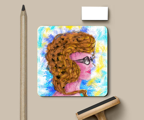 RADIANCE | beauty | girl | summer | colorful | woman | people | painting | sketches Coasters | Artist : Jessica Maria