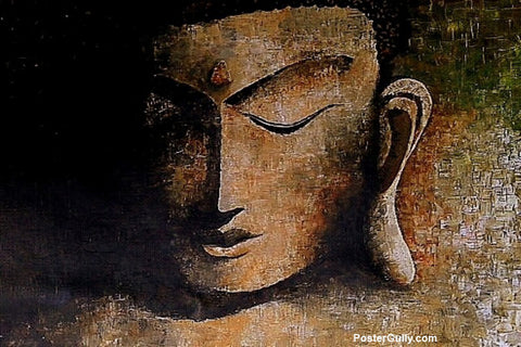 Wall Art, Enlightened Buddha Artwork | Artist: Sunanda Puneet, - PosterGully - 1