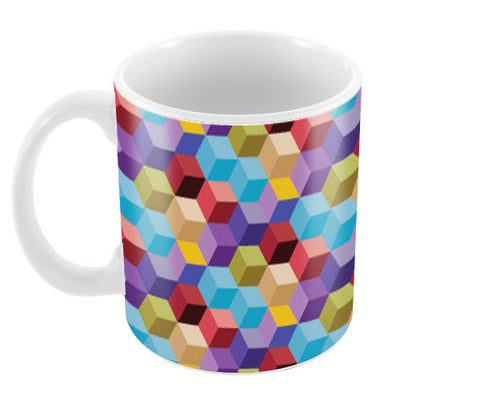 Cubicle Pattern Coffee Mugs | Artist : Delusion
