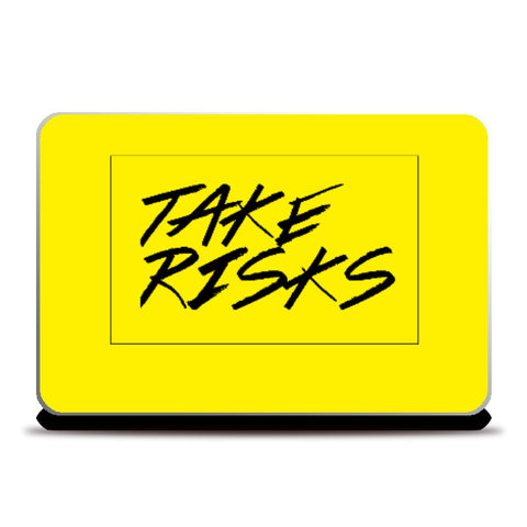 Laptop Skins, Take Risks Laptop Skin | Artist Siddhant Talwar, - PosterGully