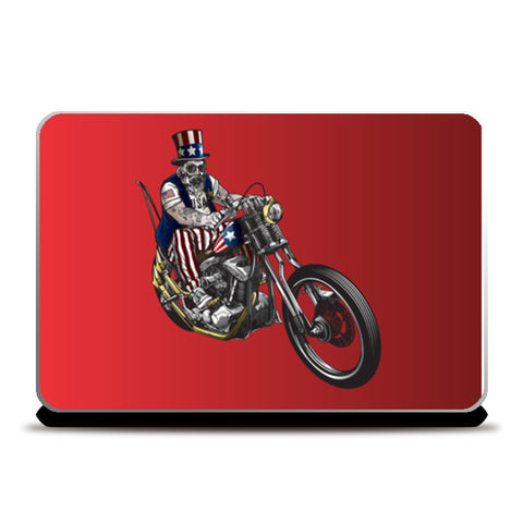 Man riding legendary motorbike Laptop Skins | Artist : Creative DJ