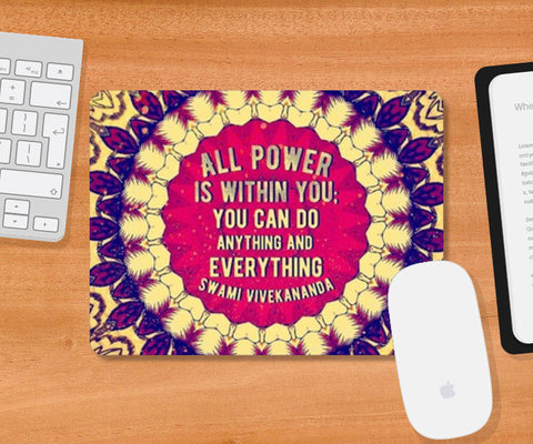 Typography Art Mousepad | Artist : Delusion