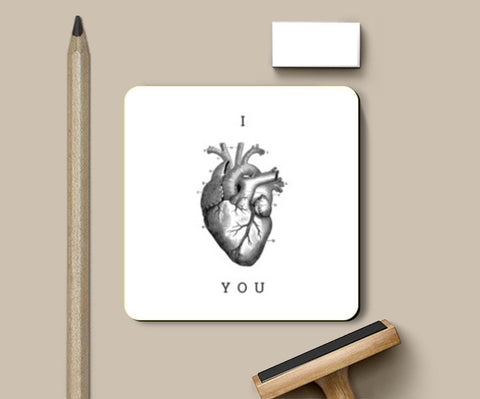 Coasters, I Heart You Coasters | Artist : Tanvi C, - PosterGully