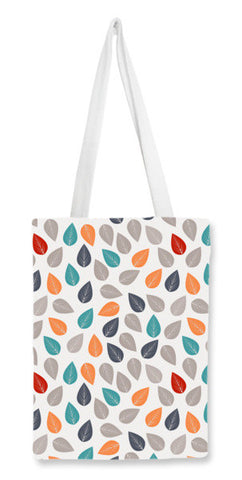 Seamless pattern with multicolored leaf on light background Tote Bags | Artist : Designerchennai