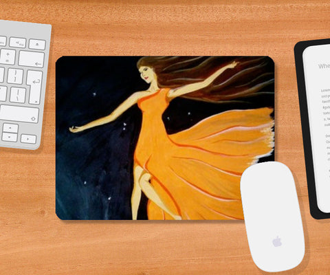 Mousepad, PAINTING OF A GIRL Mousepad | Artist : Pallavi Rawal, - PosterGully