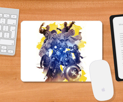 Avengers Age of Ultron Digital Watercolor Mousepad | Artist : Cuboidesign