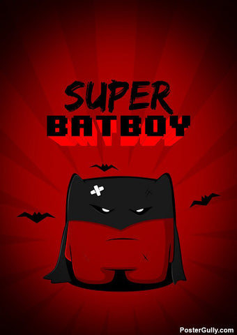 Brand New Designs, Super Bat Boy Artwork | Artist: Rigved Sathe, - PosterGully - 1