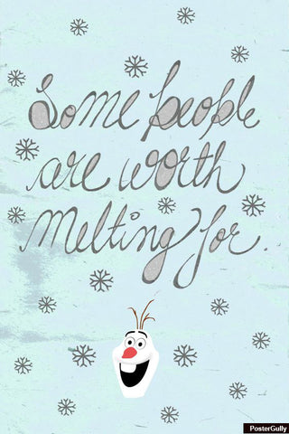 Wall Art, Olaf Qoute #Frozen Artwork | Artist: Simran Anand, - PosterGully - 1