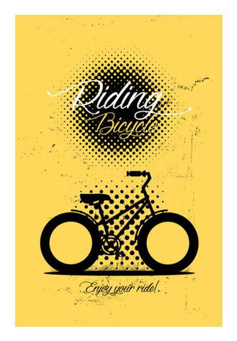 PosterGully Specials, Enjoy your ride bicycle Wall Art | Artist : Designerchennai, - PosterGully
