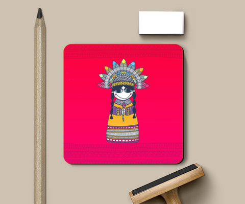 Coasters, Little Indian Lady Coasters | Artist : Suchita Pande, - PosterGully