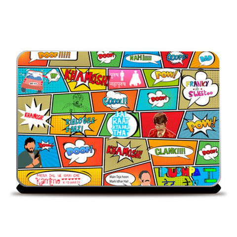 Laptop Skins, BOLLY POP!! Laptop Skins | Artist : DISHA BHANOT, - PosterGully