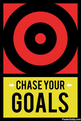 Wall Art, Chase Your Goals Motivational Artwork, - PosterGully - 1