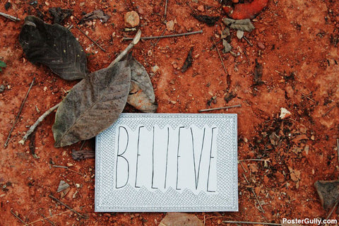 Wall Art, Believe Artwork | Artist: Annushka Hardikar, - PosterGully - 1