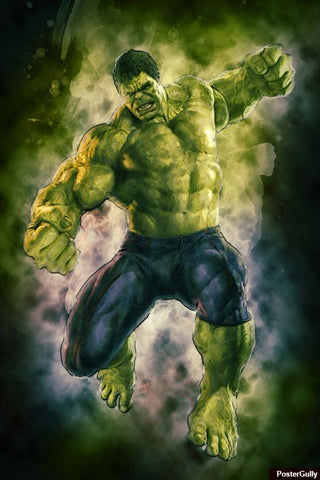 Wall Art, Hulk Avengers Black Artwork | Artist: Amit Kumar, - PosterGully