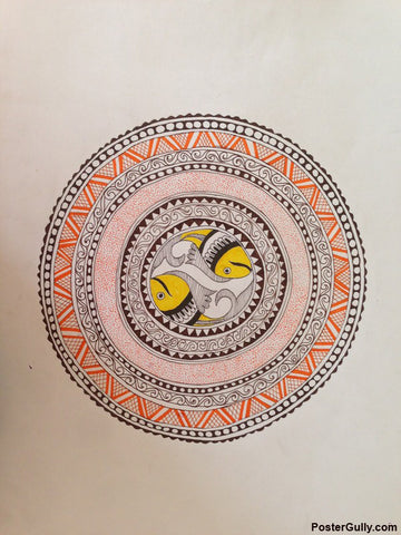 Wall Art, Madhubani Circle Artwork | Artist: Pallavi Dahiya, - PosterGully - 1
