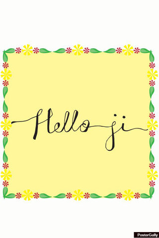Wall Art, Hello Ji Artwork | Artist: Simran Anand, - PosterGully - 1