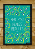 Wall Art, Real Eyes Tupac Quote Artwork | Artist: Inderpreet, - PosterGully - 2