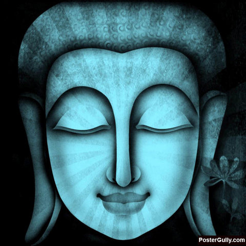 Brand New Designs, Buddha Light Blue Artwork | Artist: Pradeesh K, - PosterGully