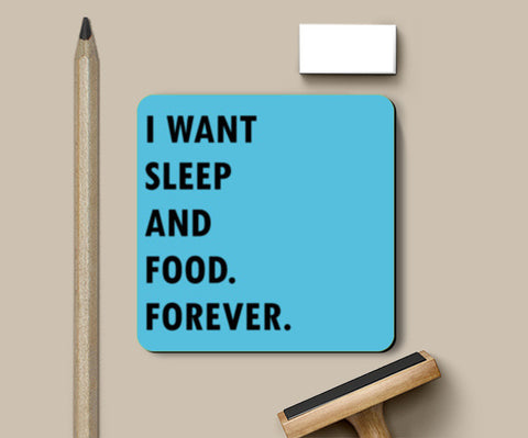 SLEEP AND FOOD. Coasters | Artist : Shruti aggarwal