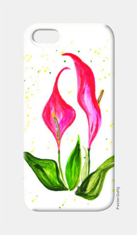 iPhone 5 Cases, Pink Floral iPhone 5 Case | Shweta D, - PosterGully