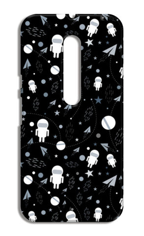 Astronaut black and white Moto X Style Cases | Artist : Designerchennai