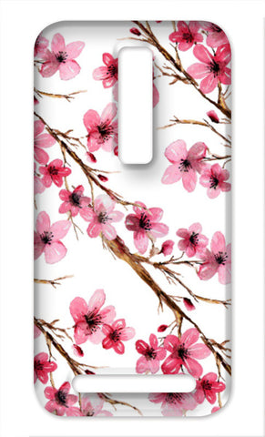 Pretty Pink Spring Cherry Blossom Watercolor Floral Design Asus Zenfone 2 Cases | Artist : Seema Hooda