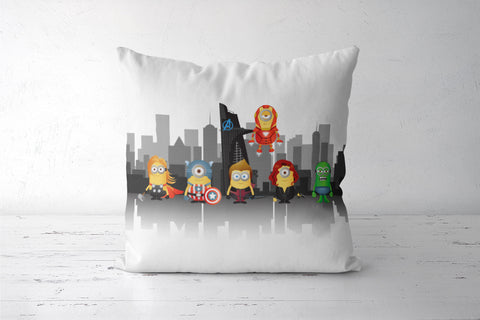 Minion Avengers Cushion Cover | Artist: Ronak Mantri