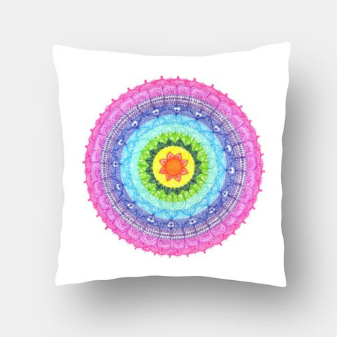Cushion Covers, Rainbow Mandala Cushion Covers | Artist : Suchita Pande, - PosterGully