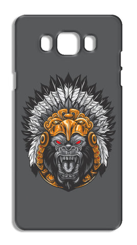 Gorilla Wearing Aztec Headdress Samsung Galaxy J7 2016 Cases | Artist : Inderpreet Singh