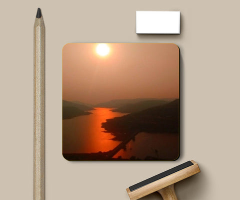 Coasters, Sunset at Lavasa Coasters | Artist : CK GANDHI, - PosterGully