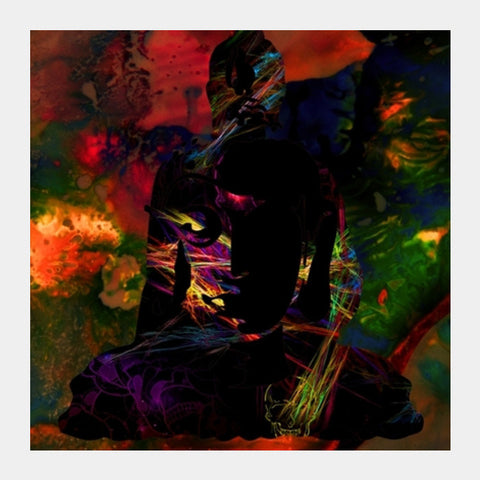 The Buddha Dark Night Square Art Prints PosterGully Specials