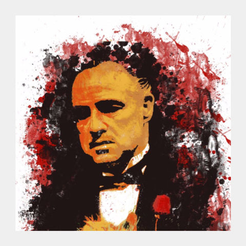 Square Art Prints, GodFather Square Art | Artist: Deepak Gupta, - PosterGully