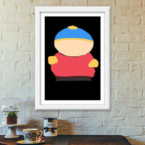 Eric Cartman South Park Minimal Sketch Doodle Artwork (Childhood/Cartoon) Premium Italian Wooden Frames | Artist : Looks Good = Feels Good