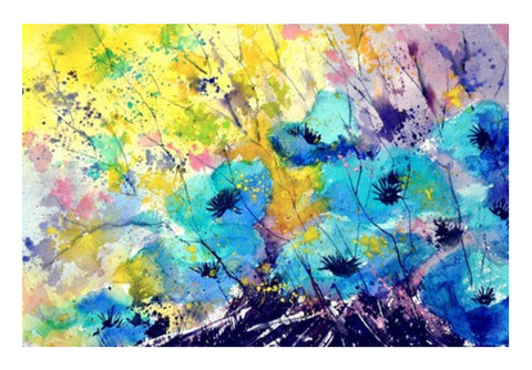 Wall Art, watercolor blue flowers Wall Art  | Artist : pol ledent, - PosterGully