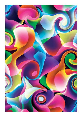 PosterGully Specials, Colorful Abstract Swirls Wall Art | Artist : Design_Dazzlers, - PosterGully